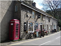 SK1482 : Castleton: a red phone box by Chris Downer