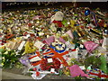 TQ4278 : Floral tributes to Drummer Lee Rigby at the Royal Artillery Barracks by Marathon