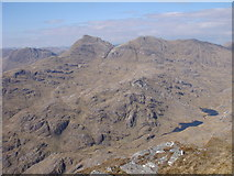 NM8893 : View northeast from Sgurr na h-Aide by Sally