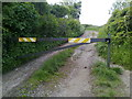 ST7769 : Vehicle barrier on Holts Down Byway by James Ayres