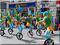 SJ8397 : Unicyclists on Deansgate, Manchester Day 2013 by David Dixon