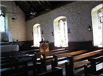 NY9369 : Interior of St Oswald's church, Heavenfield by David Purchase