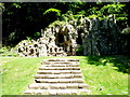 ST9326 : Wardour: the grotto at Old Wardour Castle by Chris Downer
