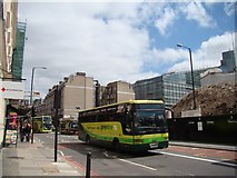 TQ2879 : View of Eland House and a parade of shops from Buckingham Palace Road by Robert Lamb
