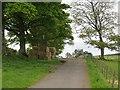 NT9408 : Biddlestone hay stash by Richard Webb