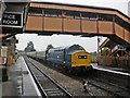 ST0841 : 37215 departs from Williton with a train for Bishop's Lydeard by Roger Cornfoot