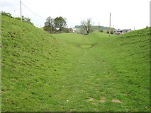 """NY6466 : The Hadrian's Wall Path approaching """"The Gap"""" by David Purchase"""