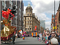 SJ8397 : Deansgate on Manchester Day by David Dixon