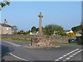 SD6282 : War memorial cross in Barbon village by Oliver Dixon