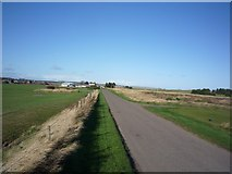 NU0445 : Towards Goswick golf course club house by DS Pugh