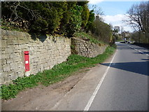 SK2480 : Hathersage: postbox № S33 626, Hathersage Booths by Chris Downer