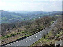 SK2480 : Hathersage: view from Millstone Edge by Chris Downer