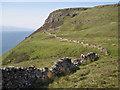 NG3031 : Ruined wall below Sgùrr Mòr by Richard Dorrell
