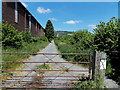 SO0451 : Path and cycle route past Jewson, Llanelwedd by Jaggery