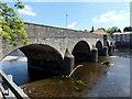 SO0451 : West side of Wye Bridge between Llanelwedd and Builth Wells by Jaggery