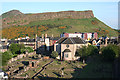 NT2673 : Canongate Kirk and Salisbury Crags by Anne Burgess