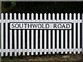 TM4481 : Southwold Road sign by Adrian Cable