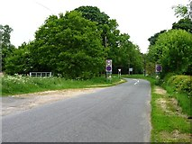 SK6052 : Salterford Lane meeting the A614 by Christine Johnstone