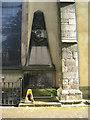 NT2573 : Obeliskal mural monument, Greyfriars Kirkyard by Robin Stott