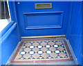 NT2573 : Tiled step, 9 South College Street by Robin Stott
