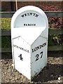 TL2518 : Old Milepost by Keith Evans