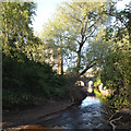NT2575 : Water of Leith above Canonmills by Robin Stott