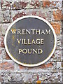 TM4982 : Sign on Wrentham Village Pound by Adrian Cable