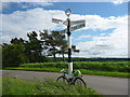 NT6075 : East Lothian Landscape ELCC Fingerpost at Grangemuir Junction by Richard West
