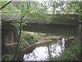 NS9898 : Vicar's Bridge over the River Devon by Stanley Howe