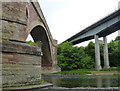 NT5734 : Drygrange Old and New bridges by Alan Murray-Rust