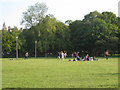 NT2572 : Picnic and kickabout, East Meadow Park by Robin Stott