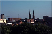 SP3379 : Two spires and a cathedral, 1971 by FEG