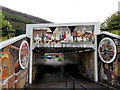 SO2104 : Colourful subway murals,  Abertillery by Jaggery
