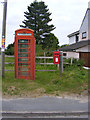 TM4686 : Telephone Box & The Street Postbox by Adrian Cable