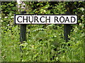 TM4585 : Church Road sign by Adrian Cable