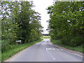 TM4687 : Entering Hulver on the B1127 Benacre Road by Adrian Cable