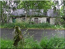H4971 : Old school along Deverney Road by Kenneth  Allen