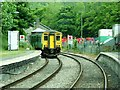 SO2972 : Knighton Railway station by Peter Evans