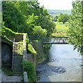 SO5012 : Footbridge over the River Monnow by David Lally