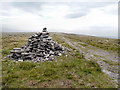 SD9813 : Cairn at the Side of The Pennine Way by David Dixon