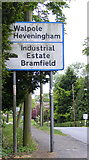 TM3876 : Roadsign on the A144 London Road by Adrian Cable