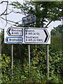 TM4479 : Roadsigns on the A145 London Road by Adrian Cable