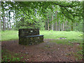 SD3396 : Memorial stone bench by Goosey Foot Tarn, Grizedale Forest by Karl and Ali