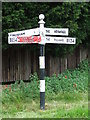 TM1287 : Spray Painted Direction Sign by Keith Evans
