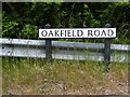 TM1241 : Oakfield Road sign by Adrian Cable