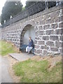 NJ8400 : A niche in the cemetery wall, Peterculter by Stanley Howe