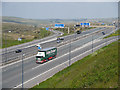 SD9814 : M62 at Junction 22 (Rockingstone) by David Dixon