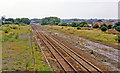 SP8972 : Site of Finedon station, 1993 by Ben Brooksbank