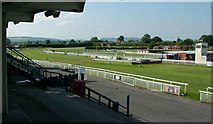 SO4877 : Ludlow Racecourse Finishing Post by Peter Evans
