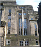 NT2674 : Windows to stairs, west end of St Andrew's House by Robin Stott